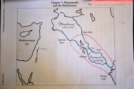 Each chapter includes mapwork